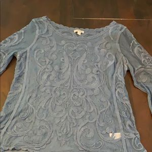 Sheer/ lace Express shirt